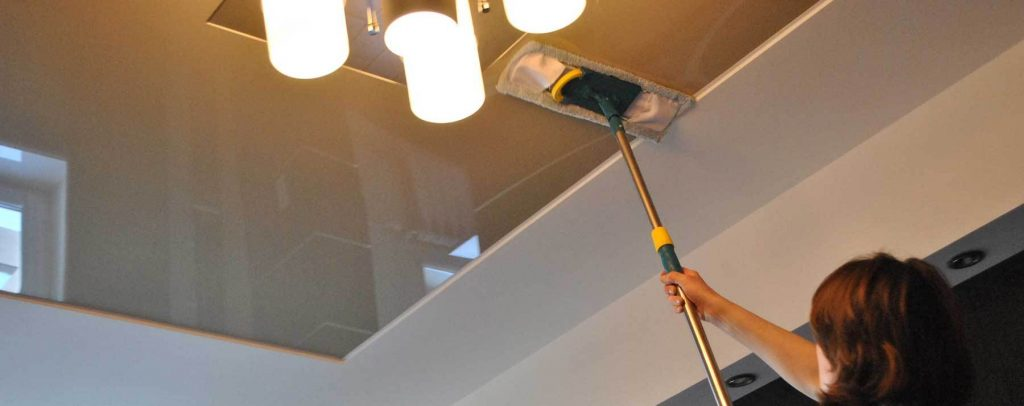 Как мыть натяжные матовые потолки